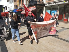 May Day Rally Derry 2019 (sean and nina) Tags: may day rally trade unions political groups groupings derry londonderry banners flags politics workers left socialist communist march demonstration procession walk parade peopl epersons candid street public outdoor outside irish north northern ireland city centre pedestrian zone