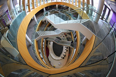 Way Down (lfeng1014) Tags: atrium stairs liverpoolcentrallibrary architecture building waydown elevatedview library canon5dmarkiii fisheye ef815mmf4lfisheyeusm travel england uk lifeng