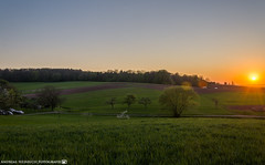 Sunset in the fields. (andreasheinrich) Tags: 32bithdr landscape sunset spring evening april warm colorful germany badenwürttemberg neckarsulm dahenfeld deutschland landschaft sonnenuntergang frühling abend farbenfroh nikond7000