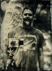 Doug (Blurmageddon) Tags: 5x7 largeformat wetplatecollodion senecaimprovedview epsonv700 alternativeprocess alumitype tintype newguycollodion limekilncanyonpark portrait