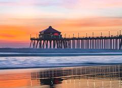 Huntington Pier (meeyak) Tags: hb huntingtonbeach california orangecounty pier sunset silhouette seascape landscape mikemarshall sony a7riii 70200mm reflection travel adventure