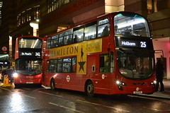 Arriva London HV244 LK66GCZ & Tower Transit 36117 BJ11DVK (Will Swain) Tags: london 7th november 2018 greater city centre capital south bus buses transport travel uk britain vehicle vehicles county country england english bank arriva hv244 lk66gcz tower transit 36117 bj11dvk