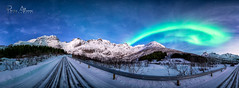 God's road (Perez Alonso Photography) Tags: norway northernlights aurora boreal borealis snow ice road green lady mountains arctic night nightscape landscape beautiful paisaje