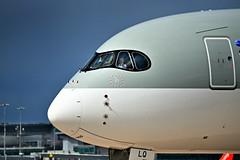 International recognition. (PentlandPirate of the North) Tags: qatarairways dreamliner pilot captain pirate sign manchesterairport ringway boeing