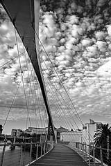 Cloudbridge (digitalmavin) Tags: blackandwhite blackandwhitephotography urban bridge clouds cloudscape beautiful capetown southafrica francphotographyza gimp canon sky