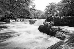 Take me to the River (rmrayner) Tags: bw blackandwhite monochrome riverdart longexposure water waterfall river portrait devon dartmoor