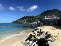 The beach at Grand Case, St Martin