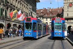 2019-04-17, Bern, Bärenplatz (Spitalgasse) (Fototak) Tags: tram strassenbahn bern switzerland rbs ligne6 82 89
