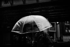 東京monochrome 2 (tomorca) Tags: rain umbrella man station tokyo monochrome blackandwhite street fujifilm xt2