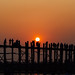 Sunset Behind U Bein Bridge, Mandalay Myanmar
