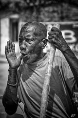 The cry ! (poupette1957) Tags: atmosphère black canon city humanisme urban imagesingulières life monochrome man noiretblanc old photographie people portrait rue street town travel voyage