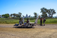 dragon/reptile golf cart (citymaus) Tags: serenity gathering 2019 woodward reservoir festival musicfestival art car golf cart dragon reptile silver