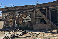 Gone (cowyeow) Tags: art abandoned saltonsea old desert california usa america bombaybeach weird odd strange shack building decay house forgotten graffiti painting cartoon