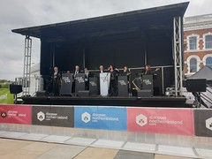 Derry Jazz and Big Band Festival May 2019 (sean and nina) Tags: derry londonderry big band jazz festival may 2019 street entertainment perform performers music musicians singers audience public candid outdoor outside eu europe european irish ireland eire north northern male female people persons costumes uniform fun happy