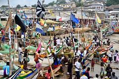 Fishing boats, Jamestown Ghana (rob kite) Tags: accra robertmarchant robkite nikon streetlife harbour jamestown africa ghana