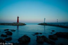 untitled (~kenlwc) Tags: landscape sea water blue lighthouse red korea busan kenlwc kenleung leica super elmar 18mm sonya7r2