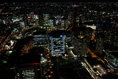 Night panorama of Yokohama City, from the Yokohama Landmark Building. (Jason CS Tsai) Tags: 日本 japan 關東 kanto 神奈川 kanagawa 橫濱 yokohama 夜景 night panorama landmark