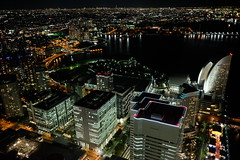 Night panorama of Yokohama City, from the Yokohama Landmark Building. (Jason CS Tsai) Tags: yokohama panorama night landmark japan kanagawa