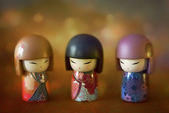 Three Best Friends (Through Serena's Lens) Tags: crazytuesday threeofakind stilllife figurine kimmidolls dolls colorful bokeh tabletop closeup small