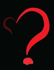 illustration of a question mark in form of a heart and a brain (illustrationvintage) Tags: concept conceptual symbol creative mind abstract design human isolated graphic brainstorm medical medicine inspiration disease health icon knowledge planning computer learn connection digital thinking think network solution education art innovation business intelligence creativity science head technology illustration idea brain funny comic question quest unknown mistery heart