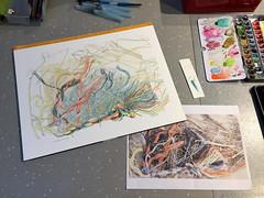 Sur la plage, vers le Maye... (tpv2009) Tags: ert drawing dessin maye somme plage aquarelle watercolor tpv