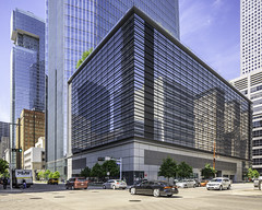 609 Main at Texas - Downtown Houston (Mabry Campbell) Tags: 609mainattexas harriscounty hines houston pickardchilton texas usa architecture building downtown exterior image photo photograph skyscraper tower f71 mabrycampbell april 2019 april22019 20190402houstoncampbellh6a6665pano2 24mm ¹⁄₁₀₀sec 100 tse24mmf35lii