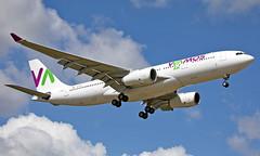 EC-MJS - Airbus A330-243 - LGW (Seán Noel O'Connell) Tags: wamosair ecmjs airbus a330243 a330 a332 gatwickairport lgw egkk 08r di7152 nrs7152 ord kord avgeek aviation aviationphotography planespotting