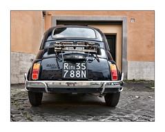 The Italian Job (david.hayes77) Tags: lazio italy classiccar rome roma car fiat500 2015 sonydscrx100m3 theitalianjob vintagecar