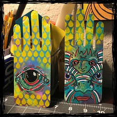 Painted Hands! 👈 (Brian Lapsley) Tags: color eye wacky weird share diy upcycle recycle reuse create make doodle draw paint art mixedmedia