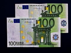2 x 100 Euro banknotes (ciddibirikiuc) Tags: 100 euro banknotes money credit bank account exchange travel omdem5markii m43turkiye