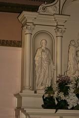 Holy Rosary Church (Ben Shaffer) Tags: cleveland ohio church catholic romanesquerevival reredo column niche statue