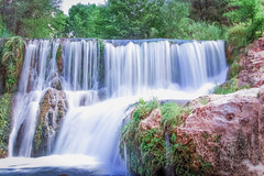 Fossil springs AZ (kristiansiordia) Tags: coth5 nature waterfall cascade hiking water rocks orange colors blue teal longexposure outdoors excursion explore expedition smokey silkysmooth