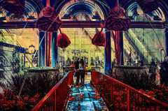 Posers (Paul B0udreau) Tags: canada ontario niagara paulboudreauphotography nikon nikond5100 photoshop water nevada lasvegas people neon lights bellagio tourist nighttime nikkor1855mm artfromart chinese oriental display