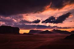 Let Your Light Shine Through (Trent's Pics) Tags: godrays reddesert wadirum ancient arab clouds desert jordan landscape light rays sand sunset viewpoint sky