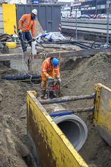 Aanleg riolering (Rotterdamsebaan) Tags: binckhorst binckhorstlaan denhaag infra infrastructuur bouwen techniek rotterdamsebaan riolering