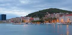 Split Marina (sfryers) Tags: harbour port shoreline lights historic city dusk boats adriatic sea split dalmatia croatia hrvatska smc pentaxfa 35mm 12