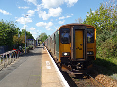150246 Lympstone Village (2) (Marky7890) Tags: gwr 150246 class150 sprinter 2f37 lympstonevillage railway devon avocetline train