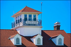 US Coast Guard Station Cape Cod Canal (Timothy Valentine) Tags: window wedding 0419 dormer capecod antennae sky chimney large 2019 widowswalk sandwich massachusetts unitedstatesofamerica