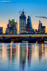 London, Blackfriars Dawn, 05:30 (Nigel Blake, 17 MILLION views! Many thanks!) Tags: dawn london thames river daybreak city cityscape reflections mirror calm sunrise nigelblake nigelblakephotography