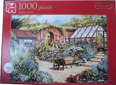 """F 7 1000 68X49CM ART 10890 COUNTRY GARDEN  Steve Cummins  BC,D/L (Andrew Reynolds transport view) Tags: jigsaw """"jigsaw puzzle"""" picture pieces large difficult falcon hobby leisure pasttime f7100068x49cmart10890countrygardenstevecumminsbc dl"""