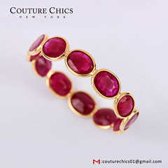 Solid 18k Yellow Gold Genuine Ruby Gemstone Band Ring Handmade Jewelry (couturechics.facebook1) Tags: solid 18k yellow gold genuine ruby gemstone band ring handmade jewelry