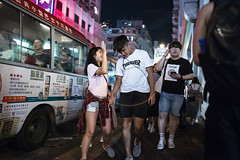 Night out (人間觀察) Tags: 28mm f14 7artisans 7artisans28mmf14 七工匠 leica leicam hong kong street photography people candid city stranger public space walking off finder road travelling trip travel 人 陌生人 街拍 asia girls girl woman 香港 wide open