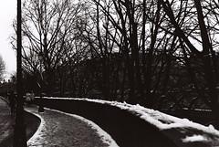 .when sorrow walked with me. (Camila Guerreiro) Tags: film expiredfilm bw pentaxmesuper paris camilaguerreiro kodak tmax 100 expired analog france snow grain