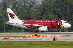 N837AW U.S.AIRWAYS A319-132 at KCLE (GeorgeM757) Tags: n837aw usairways a319132 aircraft aviation airplane airport airbus arizonacardinals georgem757 kcle clevelandhopkins canon