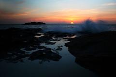 Harder than rocks... (Michael Kalognomos) Tags: canon photography sunset waves sun sky clouds rocks ef24105mmf4l kythnosisland greece water power sea landscape seaside canoneos5dmarkiii nature goldenhour