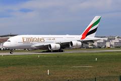 Emirates Airbus A380-842 F-WWSK (A6-EVC) (widebodies) Tags: hamburg finkenwerder xfw edhi widebody widebodies plane aircraft flughafen airport flugzeug flugzeugbilder emirates airbus a380842 fwwsk a6evc