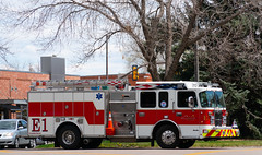 Downtown Spring (City of Fort Collins, CO) Tags: spring fortcollins pfa fire firetruck emergency