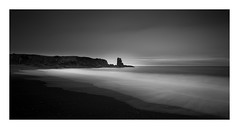 Icelandic beach ! (Nick green2012) Tags: 21 beach iceland longexposure blackandwhite seascape landscape silence