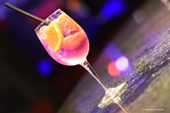 36 copie (legrand205) Tags: drink glass soirée nightclub orange glaçons verre espagne spain cocktail pink gin ice paille bar lanzarote