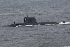 Royal Navy Astute-class nuclear attack submarine (SSN) HMS Ambush, S120; Firth of Clyde, Scotland (Michael Leek Photography) Tags: submarine attacksubmarine astuteclass nuclearsubmarine nuclear warship ship vessel nato natowarships natoexercise hmnbclyde hmnb hmsneptune faslane gareloch scotland scottishshipping gourock inverclyde firthofclyde clyde royalnavy britainsarmedforces britainsnavy baesystems rn westcoastofscotland westernscotland jointwarrior jointwarrior2019 michaelleek michaelleekphotography